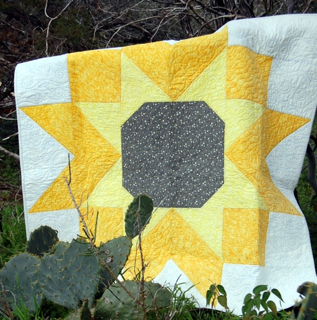 Interesting sunflower quilt 9   Sunflower Quilt Block Pattern
