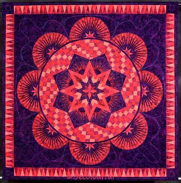 Interesting sunset circles original circle of life jacqueline de Circle Of Life Quilt Pattern