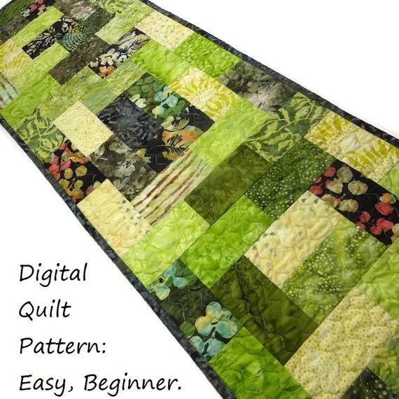 Interesting table runner quilt patterns table runner patterns modern quilt pattern scraps or jelly roll pattern digital download very easy beginner 9 Modern Quilt Patterns For Table Runners