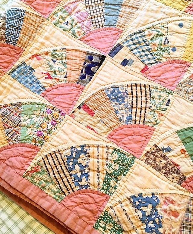 Interesting this looks like a vintage quilt but theres no link so who 9 Unique Vintage Quilt Block Patterns Gallery