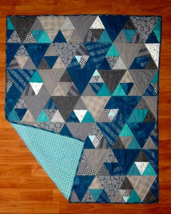 Interesting updated more sizes on point easy and quick quilt pattern 9 Modern Triangle Quilt Patterns For Beginners Inspirations