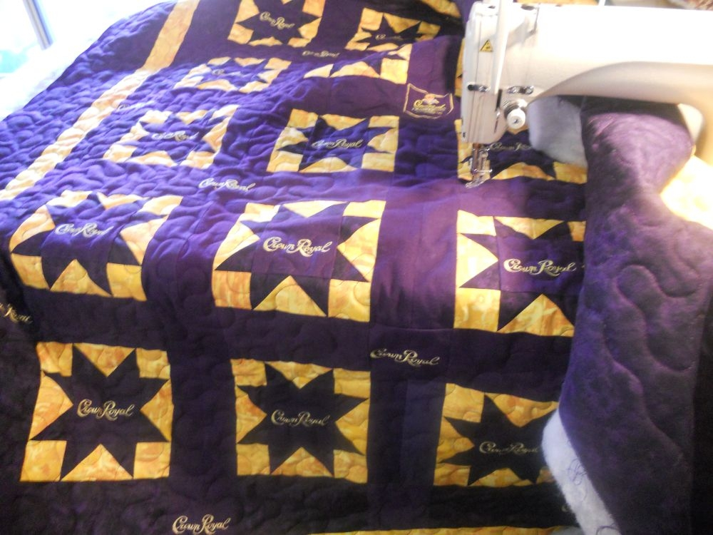 katies quilts and crafts crown royal quilt finished 10 Elegant Crown Royal Quilt Pattern Inspirations