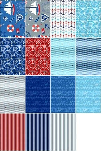 layer cake smooth sailing stack quilt fabric nautical New Stylish Layer Cake Quilting Fabric
