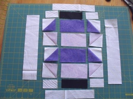 layout for the two tone chinese lantern quilt block 11 Stylish Chinese Lantern Quilt Pattern Inspirations