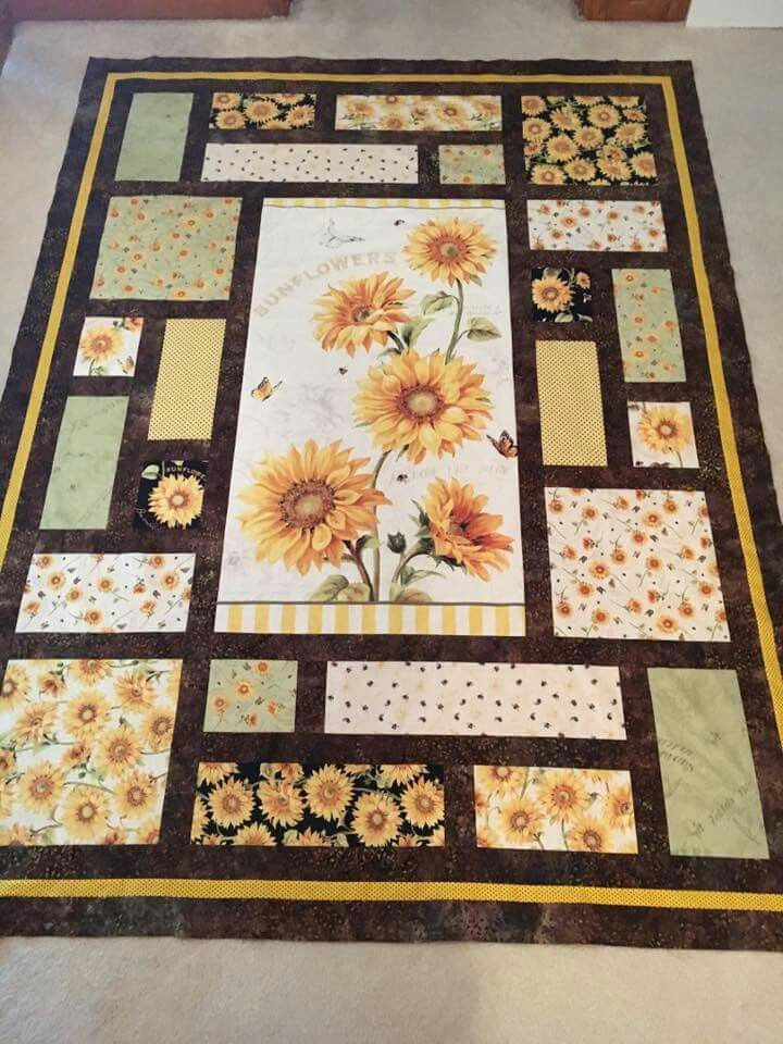 like the design and the idea panel quilt patterns 10 Interesting Quilts With Panels