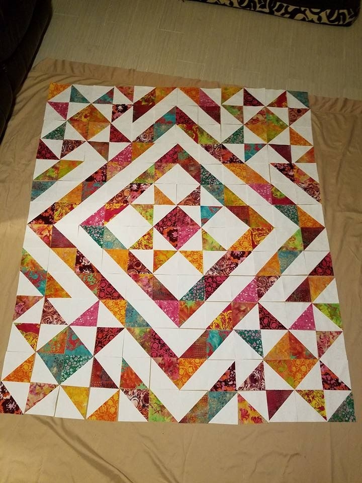Permalink to 9 New 1 2 Square Triangle Quilts
