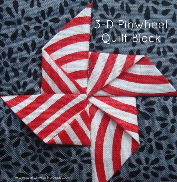 Modern 3 dimensional pinwheel quilt block patchwork posse 9 Unique Pinwheel Quilt Block Pattern Gallery