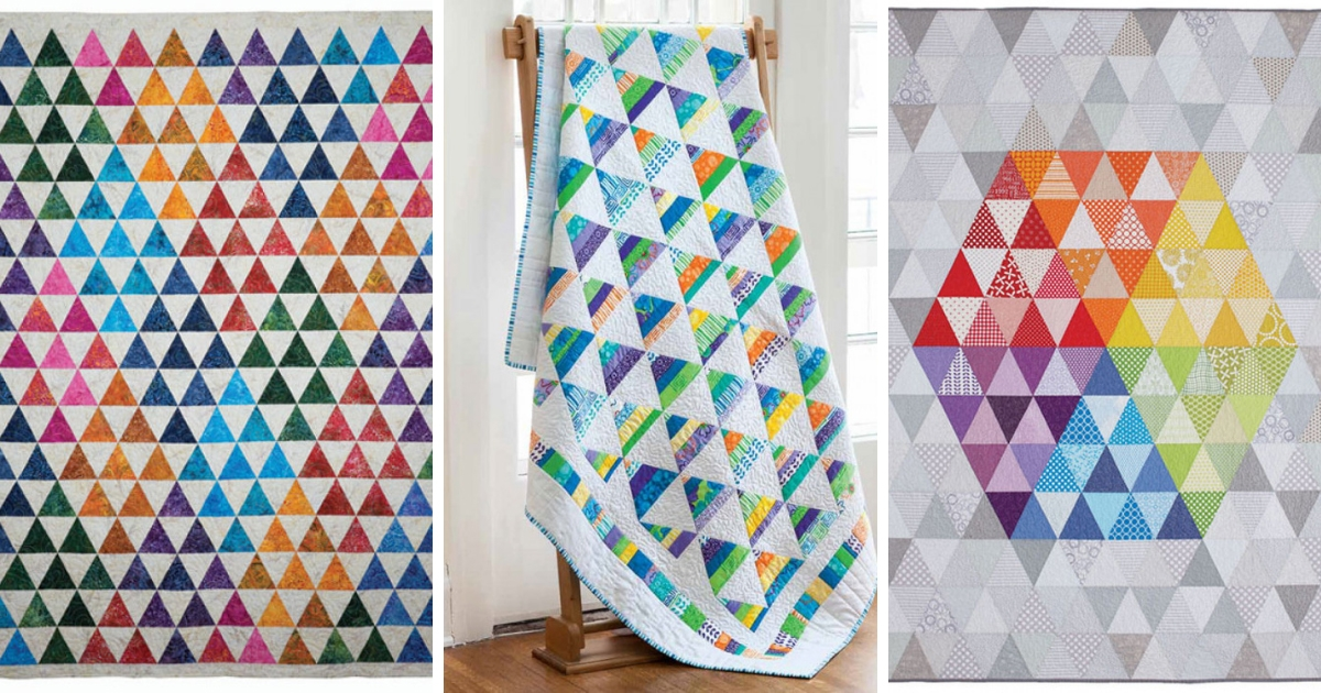 Modern block friday triangle quilts quilting daily 9 Beautiful Triangle Patchwork Quilt Gallery