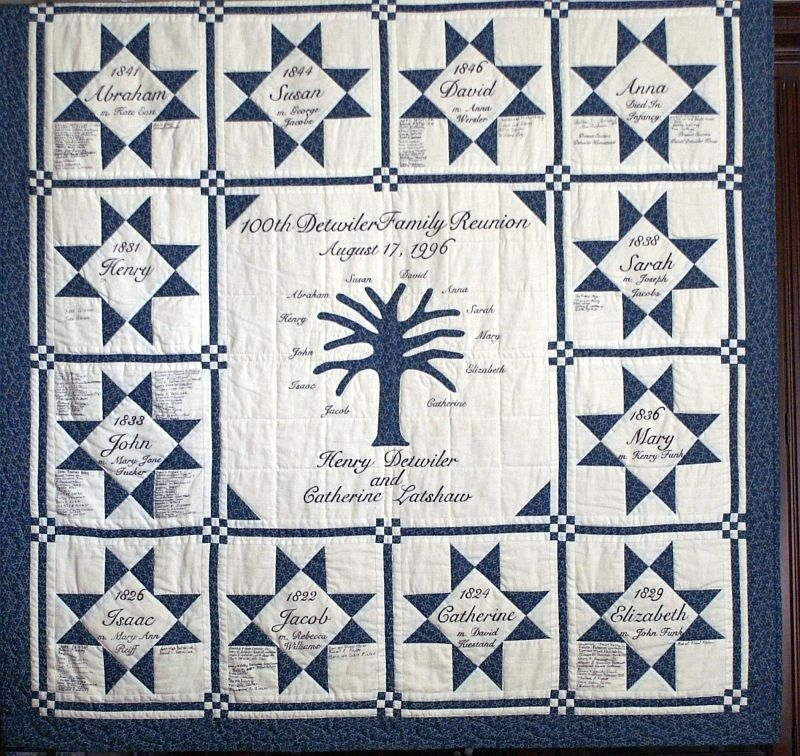 Modern detwiler family reunion quilt family tree quilt patterns 11 Interesting Family Tree Quilt