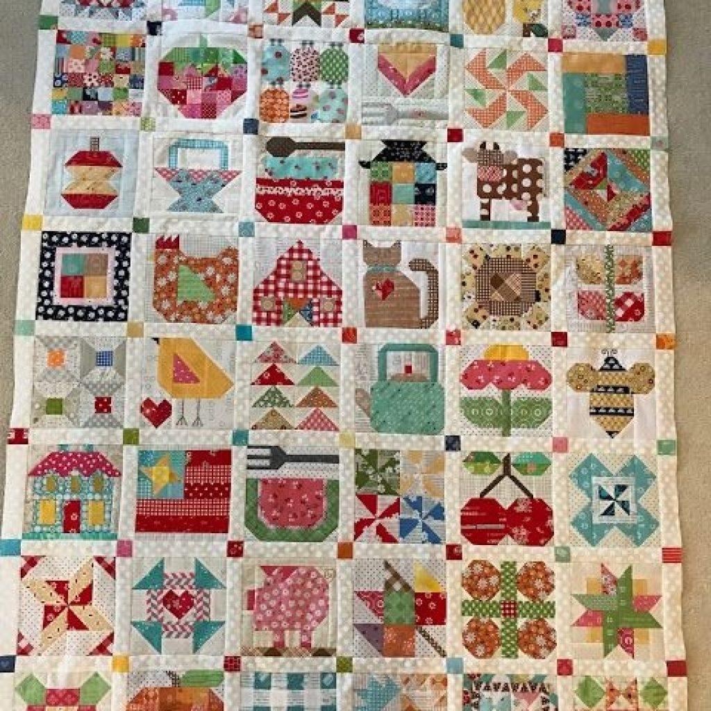 Modern dream quilt create farm girl sampler quilt part 5 farm 9 Modern Pinterest Girl On Farm Quilt Gallery