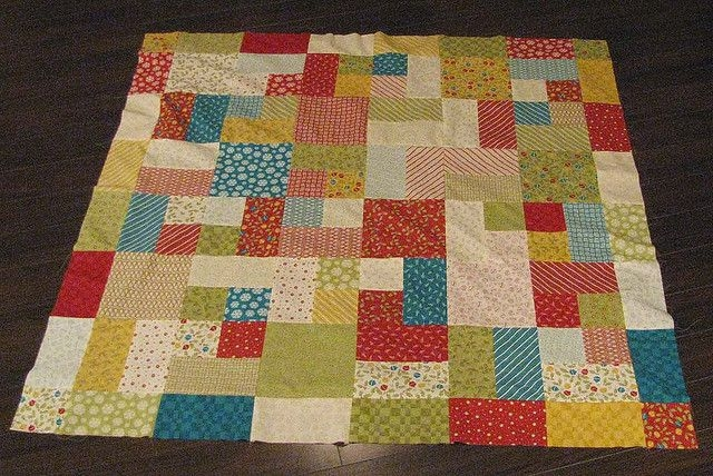 Modern easy three block quilt with random pattern quilts quilt Unique Random Patchwork Quilt Pattern Gallery