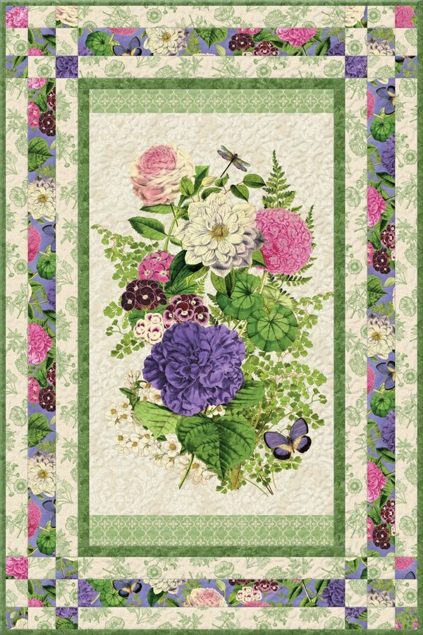 Modern flower show i free quilt pattern panel quilt patterns 10 Unique Quilt Patterns For Panels Gallery