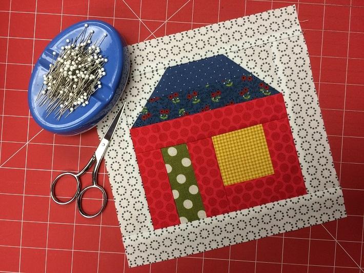 Modern free house quilt block pattern tutorial on bluprint 9 Unique House Quilt Block Patterns