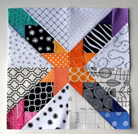 Modern free paper piecing patterns paper piecing quilts paper Interesting Wombat Siouxsie Quilts Paper Piecing Patterns Inspirations