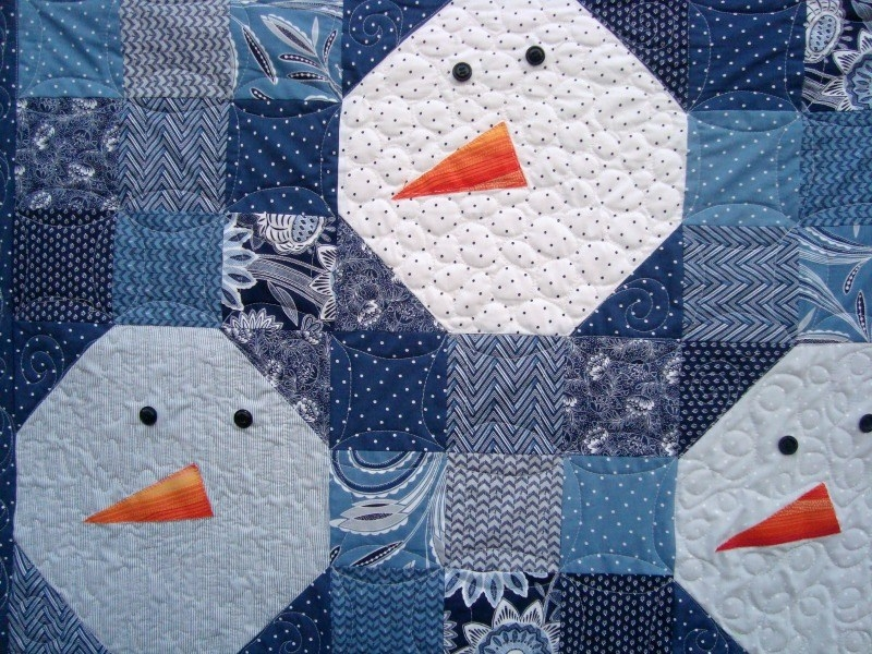 Modern free snowman quilt pattern patchwork posse 10 Unique Snowman Quilt Patterns Applique