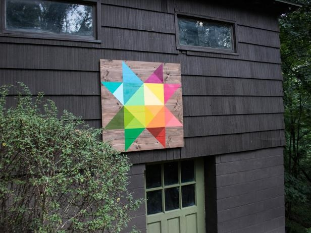 Modern how to make a modern barn quilt how tos diy 10   Quilt Patterns For Barns Gallery