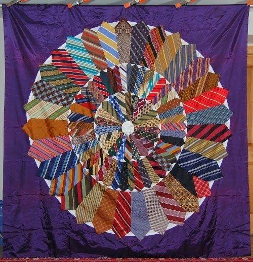 Modern necktie quilts for dad necktie quilt quilts tie quilt Cool Tie Quilt Ideas For Gifts Inspirations