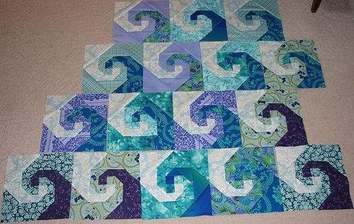 Modern ocean waves quilt blocks nautical quilt ocean waves quilt 10 Elegant Ocean Waves Quilt Pattern Inspirations
