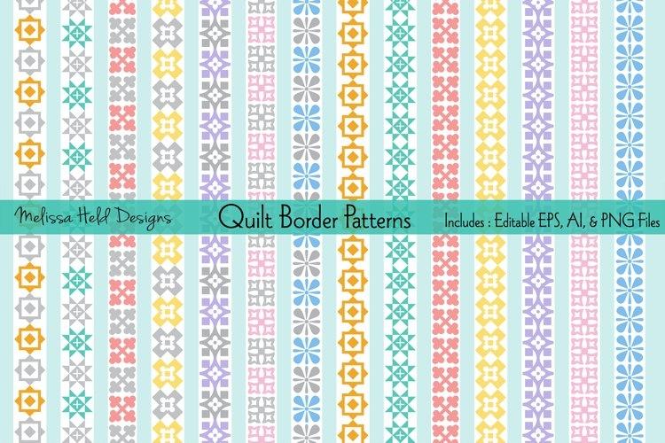 Modern pastel quilt border patterns Cozy Quilting Border Patterns