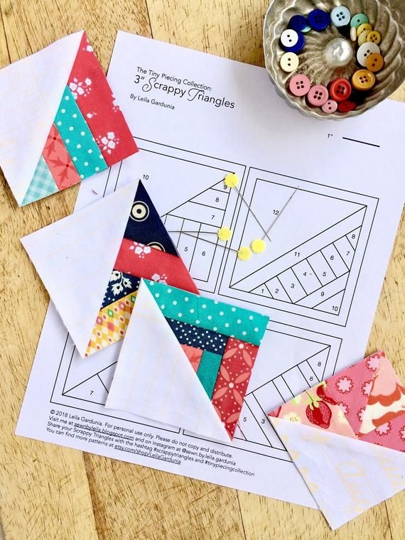 Modern pattern bundle 1 2 3 scrappy triangles etsy paper Interesting Wombat Siouxsie Quilts Paper Piecing Patterns Inspirations