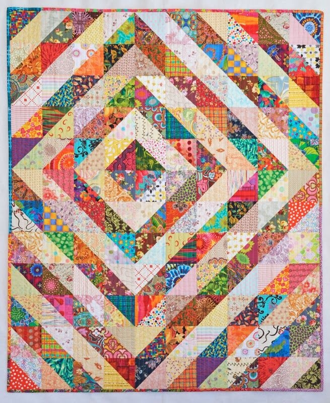 Modern quilternitys place half square triangle values quilt Interesting Scrappy Half Square Triangle Quilt Patterns Gallery