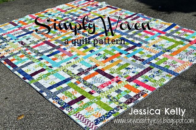 Modern simply woven quilt tutorial jessica kelly of sew crafty Stylish Moda Jelly Roll Quilt Patterns Inspirations