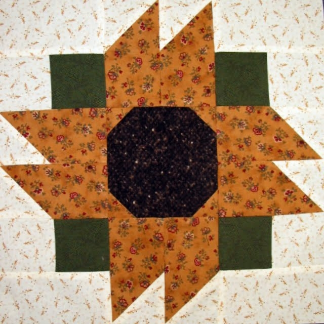 Modern starwood quilter state fair sunflower quilt block 9   Sunflower Quilt Block Pattern