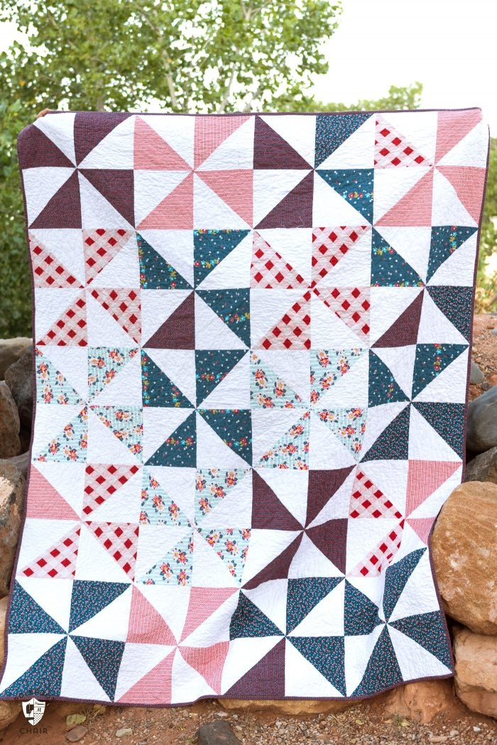 Modern summer pinwheel quilt the polka dot chair Stylish Easy Pinwheel Quilt Pattern Gallery