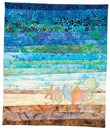 Modern treasures from the seajune embroiders seashells the Cool Beach Themed Quilt Patterns