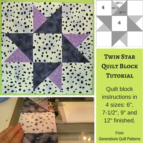 Modern twinkle twinkle twin star quilt block 6 7 12 9 and 12 9 Unique 6 Inch Quilt Block Patterns Inspirations