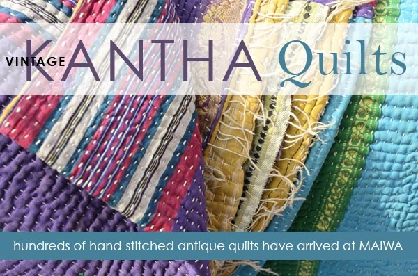 Modern vintage kantha quilts have arrived the maiwa blog 9 Stylish Vintage Kantha Quilts Gallery
