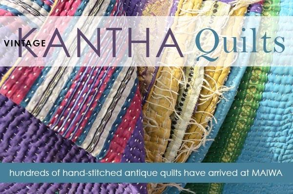 Modern vintage kantha quilts have arrived the maiwa blog 9 Stylish Vintage Kantha Quilts Gallery