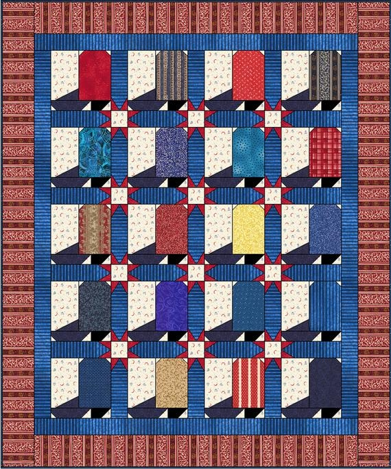 Modern western patriotic cowboy boot quilt pattern 58×70 inches instant download pdf pattern 10 Modern Cowboy Boot Quilt Pattern Inspirations