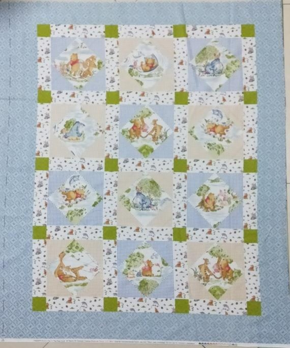Modern winnie the pooh day in the park cheater crib cot lap quilt panel cotton fabric 36x 44 9 Elegant Winnie The Pooh Quilting Fabric Gallery