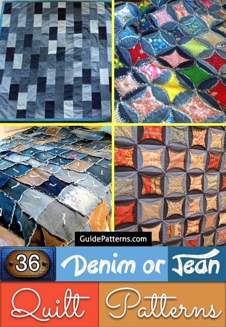 New 36 denim or jean quilt patterns guide patterns 10 Interesting Denim Rag Quilt Patterns