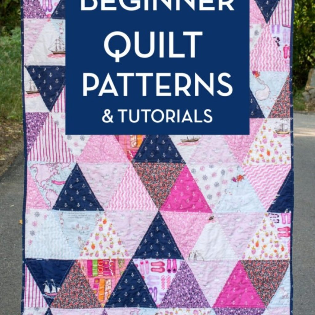 New 45 easy beginner quilt patterns and free tutorials polka 9 Modern Triangle Quilt Patterns For Beginners Inspirations