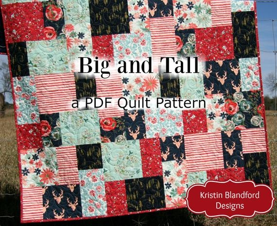 New big block quilt pattern modern mosaic big and tall fat quarter throw ba lap quilting size fast easy simple contemporary beginner large 9 Cool Block Quilt Patterns For Beginners
