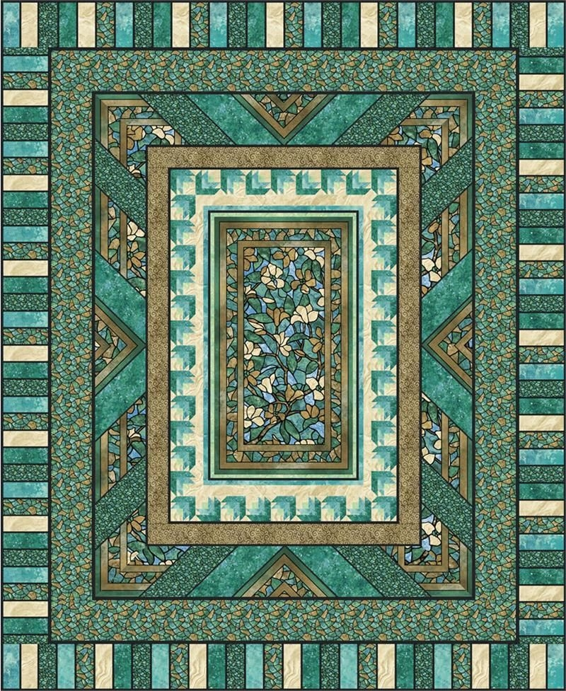 New fractured glass quilt pattern pc 125 intermediate queen 10 Modern Quilt Patterns With Panels