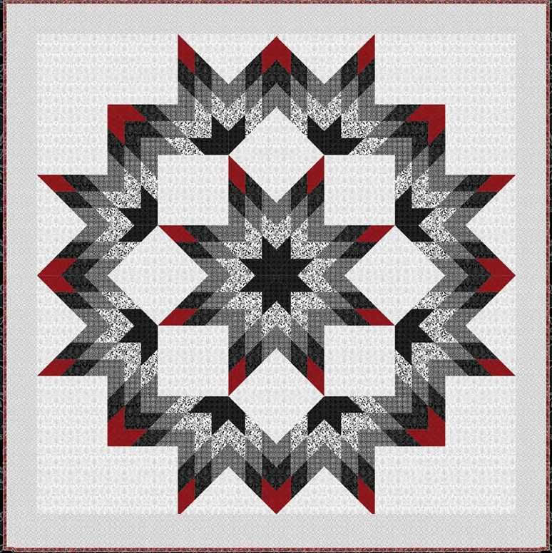 New free pattern black white currant lone star quilt 90 x 9 Beautiful Lone Star Quilt Pattern Free Gallery