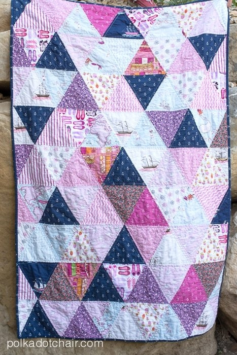 New how to make a triangle quilt on the polka dot chair blog 9 Modern Triangle Quilt Patterns For Beginners Inspirations
