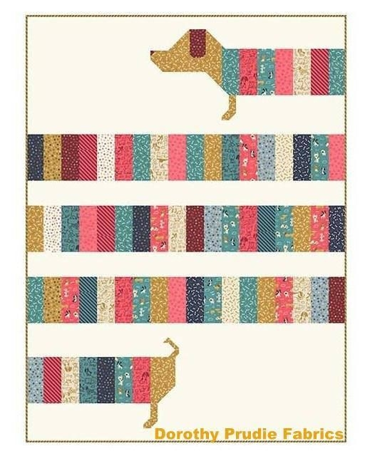 New is there anything cuter than this darling doxie dog pattern 9 Beautiful Dog Quilting Pattern Inspirations