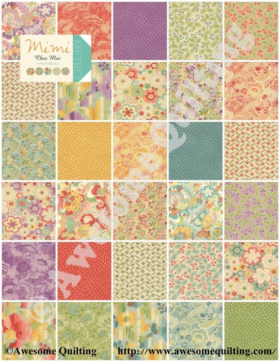 New jelly roll mimi moda quilting fabric strips chez moi New Stylish Layer Cake Quilting Fabric
