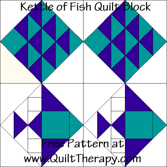 New kitchen quilting kettle of fish quilt block kettle of 11 Unique Fish Quilt Block Pattern