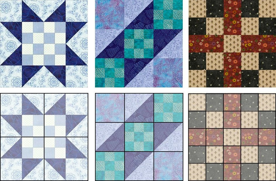 New learn how to change the size of any quilt block 9 Unique 6 Inch Quilt Block Patterns Inspirations