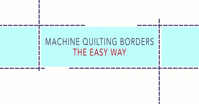 New machine quilting borders the easy way allpeoplequilt 10   Easy Quilt Border Patterns Inspirations