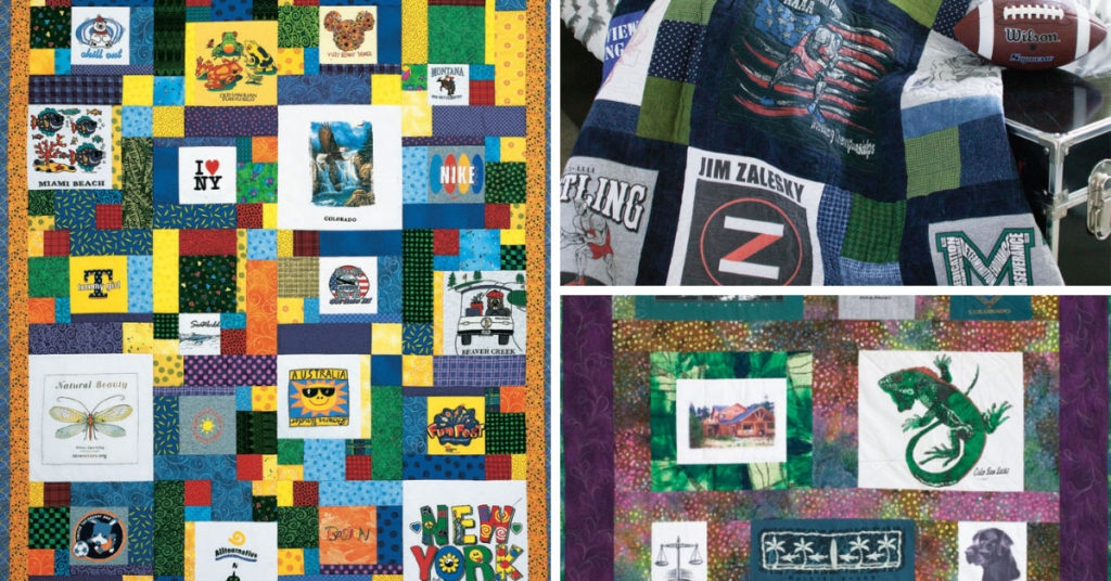 New making a t shirt quilt quilting daily 10 Interesting Patterns For TShirt Quilts Gallery
