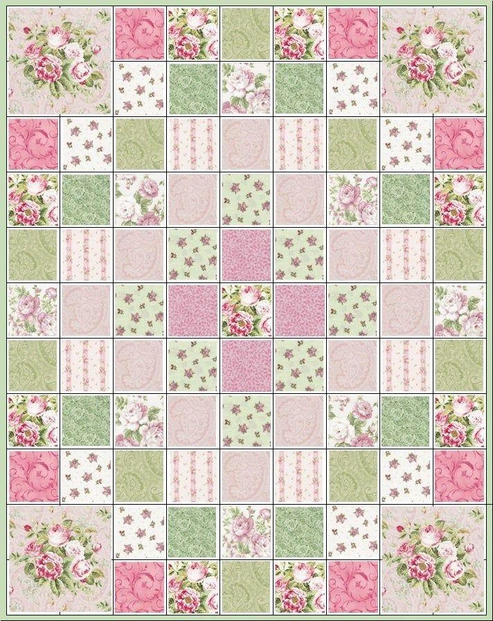 paris romanceprecut quilt kitrosespaisleypink rose etsy 10   Stylish Baby Quilt Kits Joann Fabrics Inspirations