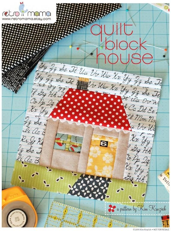 quilt block house patchwork pdf sewing pattern 9 Unique House Quilt Block Patterns