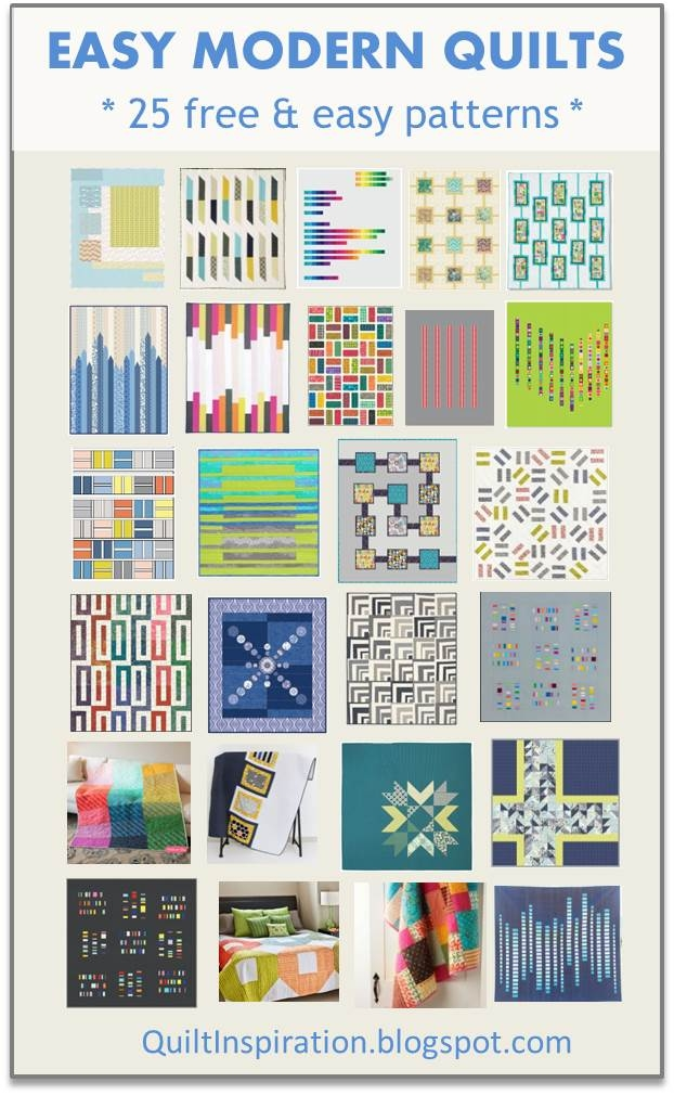 quilt inspiration free pattern day easy modern quilts 1 11 Modern Easy Modern Quilt Patterns