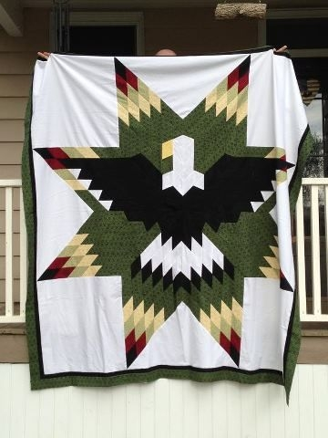 quilt my daughter quilts native american wars quilt Elegant Indian War Bonnet Quilt Pattern Inspirations